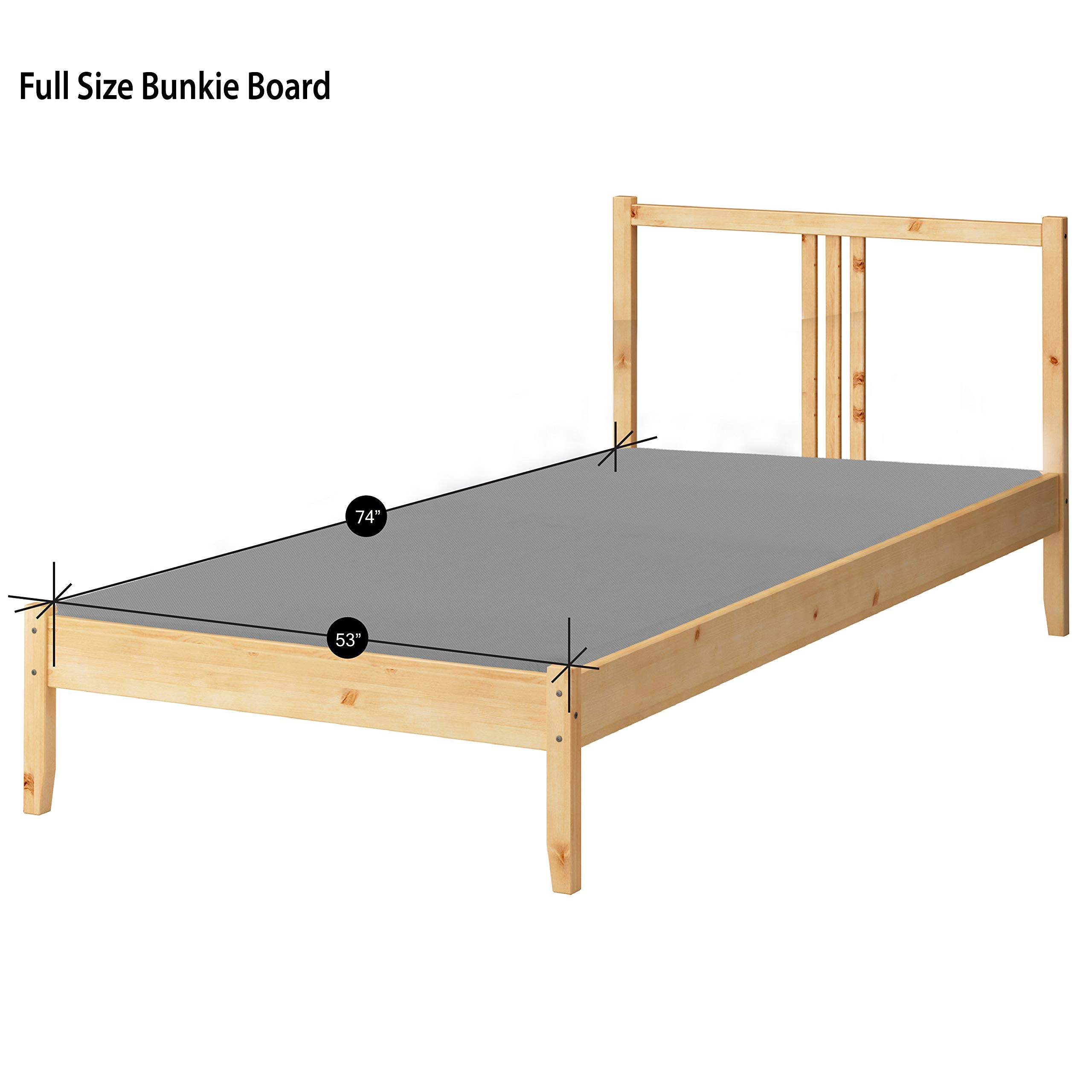 Greaton, 2-Inch Bunkie Board Mattress/Bed Support, Fits Standard, Full Size, Grey