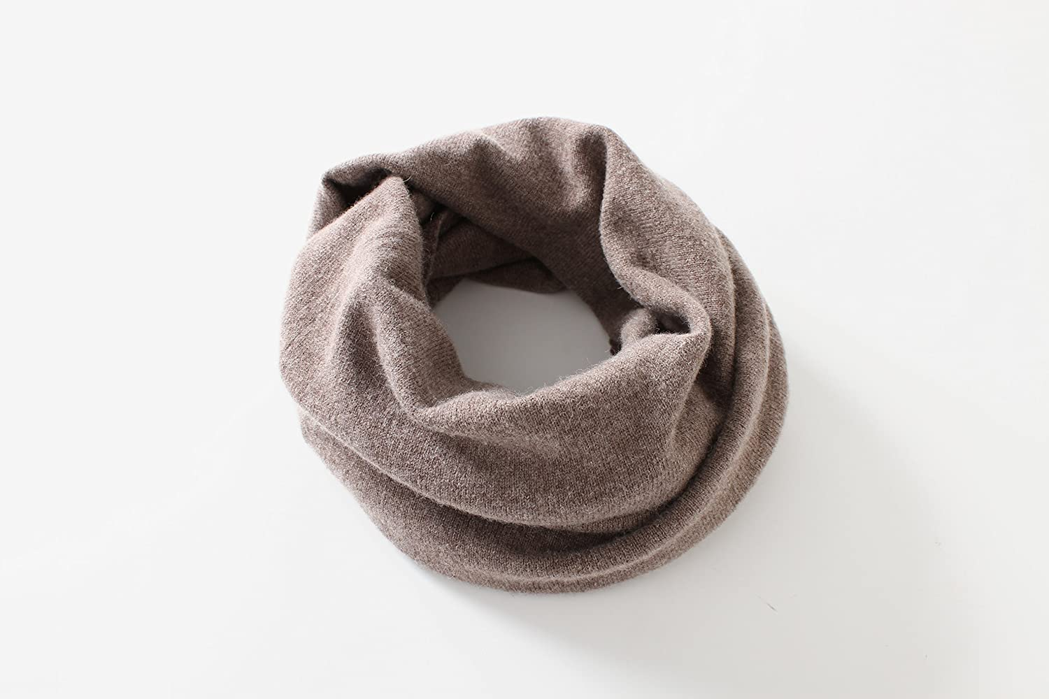 WS Natural 100% Wool Lightweight Knitted Infinity Circle Loop Scarf