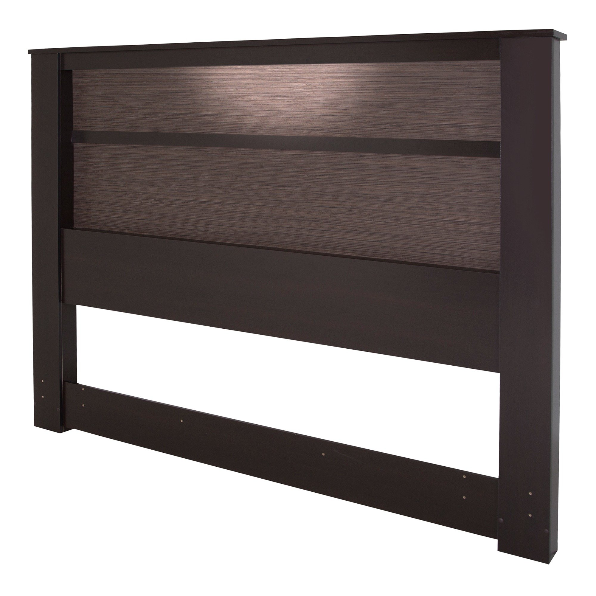 South Shore Gloria Headboard with Lights, King 78-Inch, Chocolate Brown & Zebrano