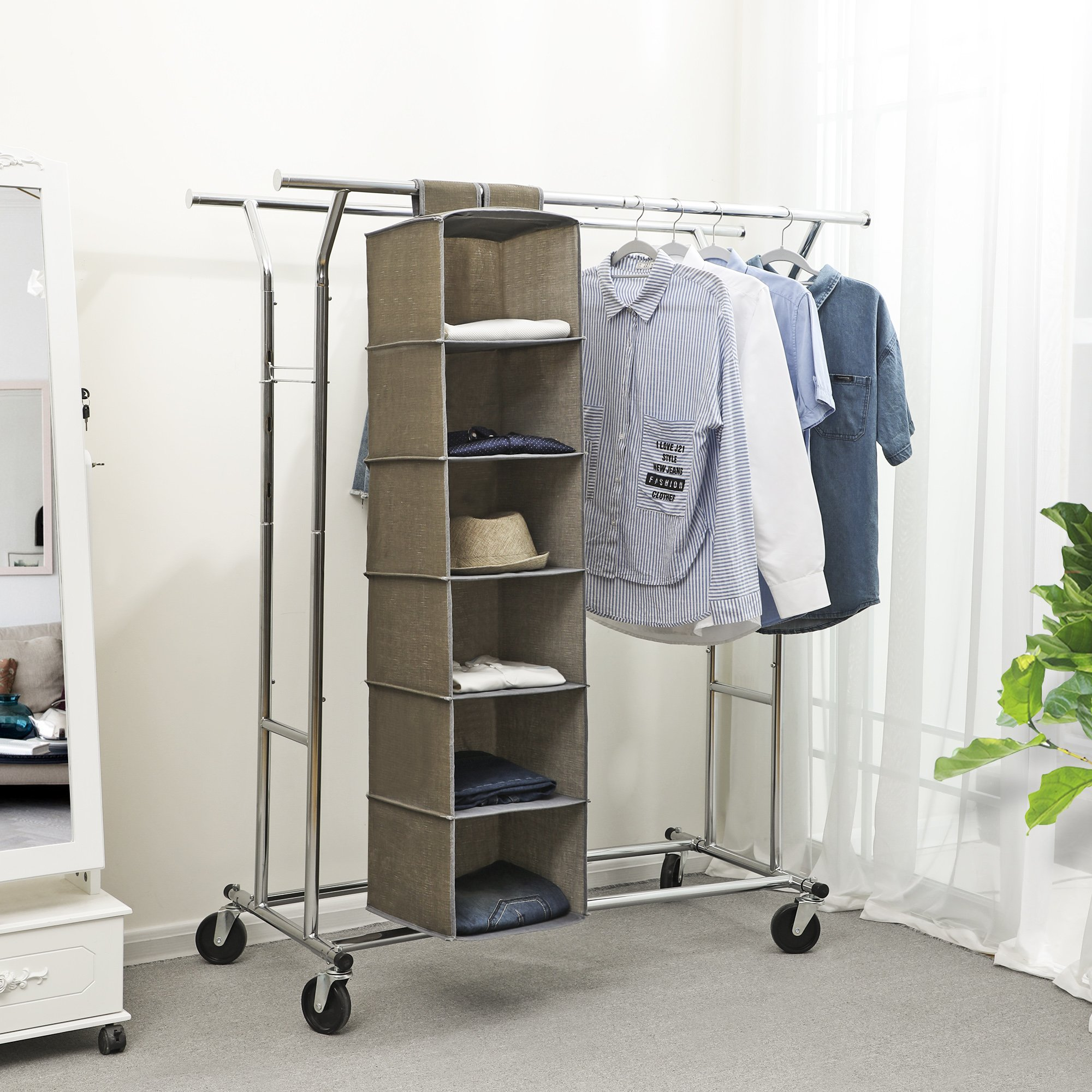 pin hanging open clothes temporary bedroom ideas marvelous garment rolling rack industrial wardrobe