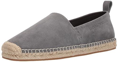 6cd0649cad Amazon.com   Emporio Armani Men's Suede Espadrille Moccasin   Shoes