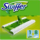 Swiffer - Kit Balai Attrape-Poussière + 8Lingettes Sèches