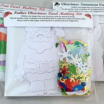 Childrenu0027s Card Father Christmas Card Making Kit   Fun, Exclusive, And Good  Value