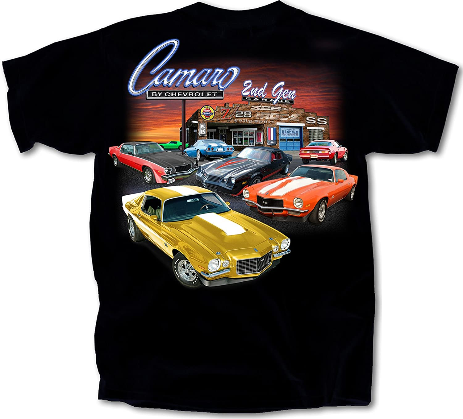 Joe Blow Ts 1970-1981 Chevy Camaro 2nd Gen Garage T-Shirt Cotton Preshrunk CV2GC-B-ADL