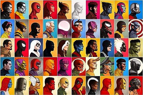 Marvel Super Hero Collage Head Shot