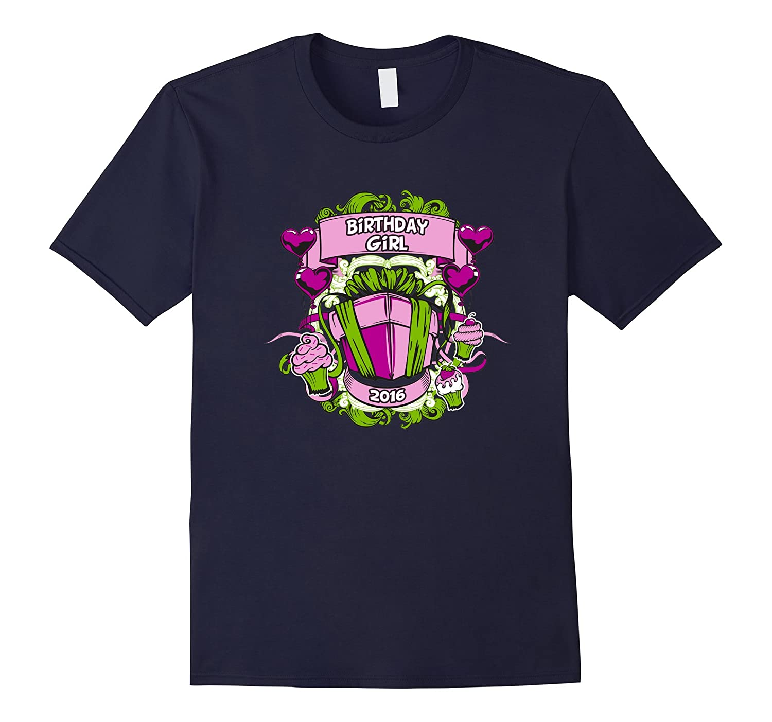 Birthday Girl 2016 T Shirts Birthday Gifts Idea For Girls-Art