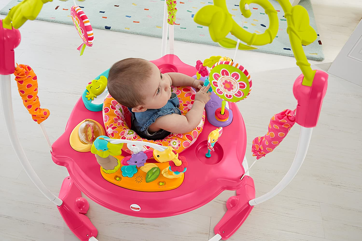 bd8b7d5152be Amazon.com   Fisher-Price Pink Petals Jumperoo   Baby
