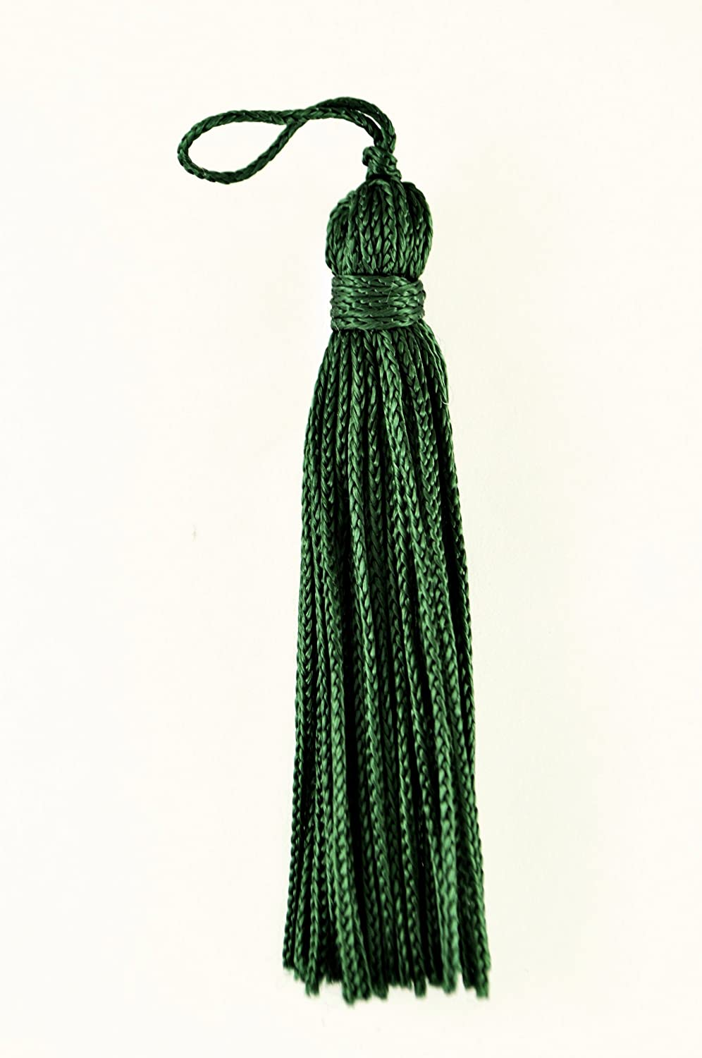 Set of 10 Green Chainette Tassel, 3 Inch Long with 1 Inch Loop, Basic Trim Collection Style# RT03 Color: Green - G10 DecoPro