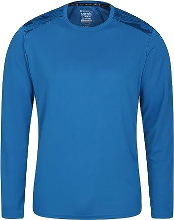 Mountain Warehouse Aspect Camiseta Serigrafiada para Hombre - Camiseta de Verano con protección UV, Ligera, Transpirable, Absorbente - para Senderismo, Viajes Cobalto 3XL: Amazon.es: Ropa y accesorios