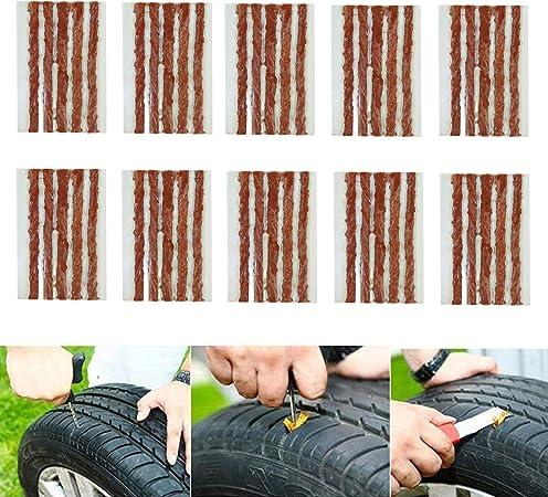 Cicmod 50 Pcs 4 Zoll Reifen Reparatur Saiten Tubeless Off Road Reifen Auto Fahrrad Atv Utv Schubkarre Mähwerk Auto