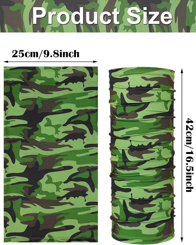 APXIVI Neck Gaiter HVAC Veteran Green Camo Face M-a-Sk Neck Gaiter Multi-Functional Balaclava Bandana Outdoor