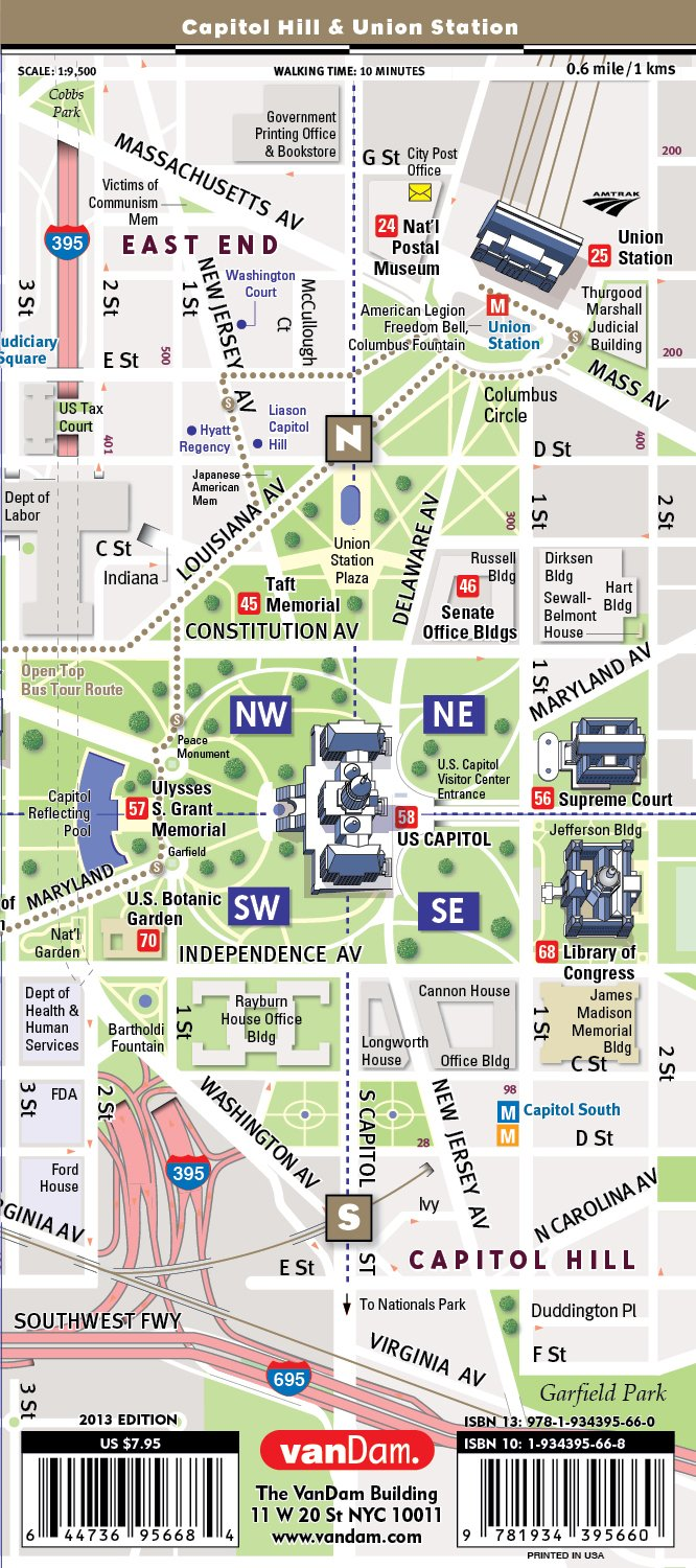 picture relating to Printable Street Map of Washington Dc referred to as MallSmart Washington DC Map by way of VanDam -- Laminated Metropolis