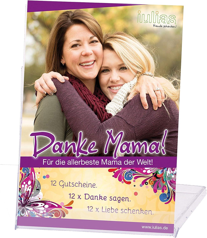 Danke Mama!, 12notas de regalo para tu madre [en idioma alemán], para el día de la madre, cumpleaños etc., 12 formas de decir gracias, 12ideas de amor para regalar, notas de regalo para una hija y s