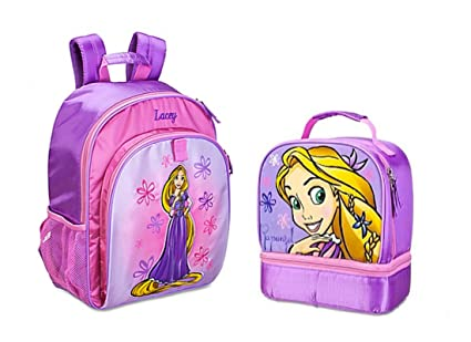 76037750a0f Image Unavailable. Image not available for. Color  Disney Store Tangled  Rapunzel Pink School Backpack and Lunchbox ...