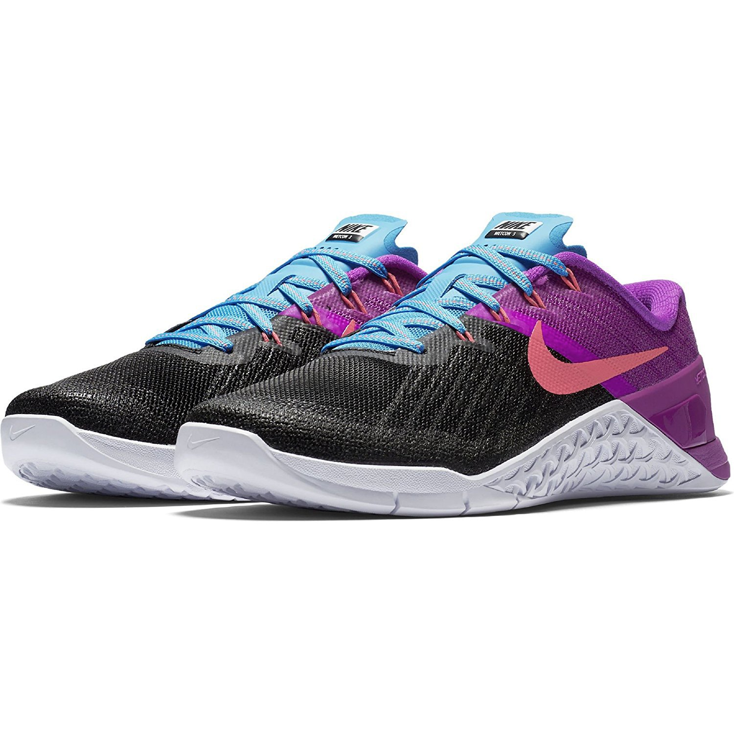 Nike Women's Metcon 3 Training Shoes Black / Racer Pink - Hyper Violet 849807-002 (7) by NIKE (Image #5)
