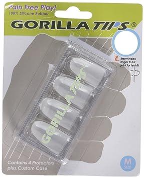 Gorilla Tips 98/GT102CLR - Protector de dedos para guitarra (talla M): Amazon.es: Instrumentos musicales