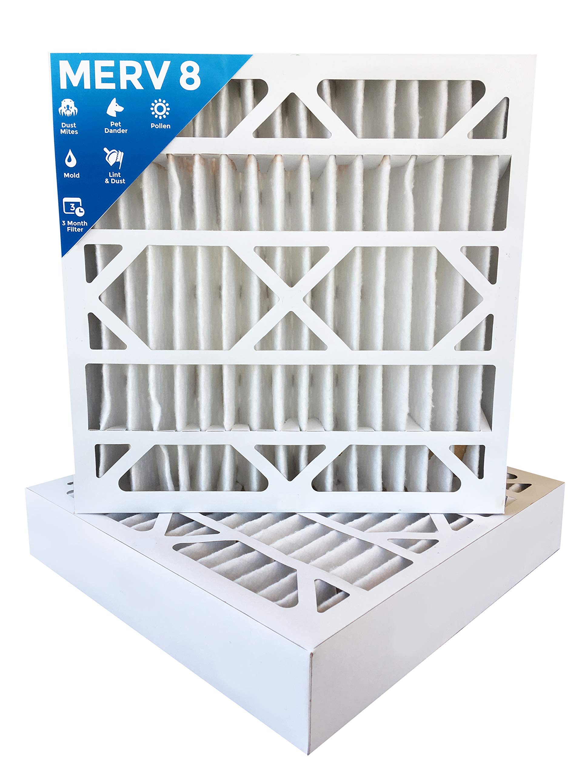 24x24x4 MERV 8 AC Furnace 4'' Inch Air Filters. Box of 4