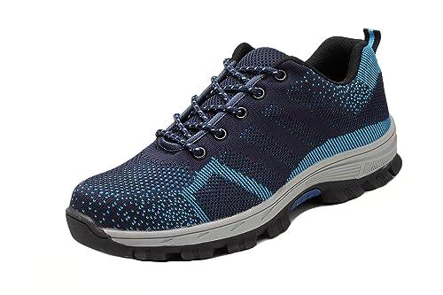 Axcer Unisex Zapatos de Seguridad con Punta de Acero Antideslizante Transpirable S3 Zapatillas de Trabajo Comodas Calzado de Trabajo Deportivos Botas de ...