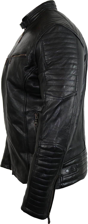 2XL MDM Motorrad Leder Jacke mit Protektoren