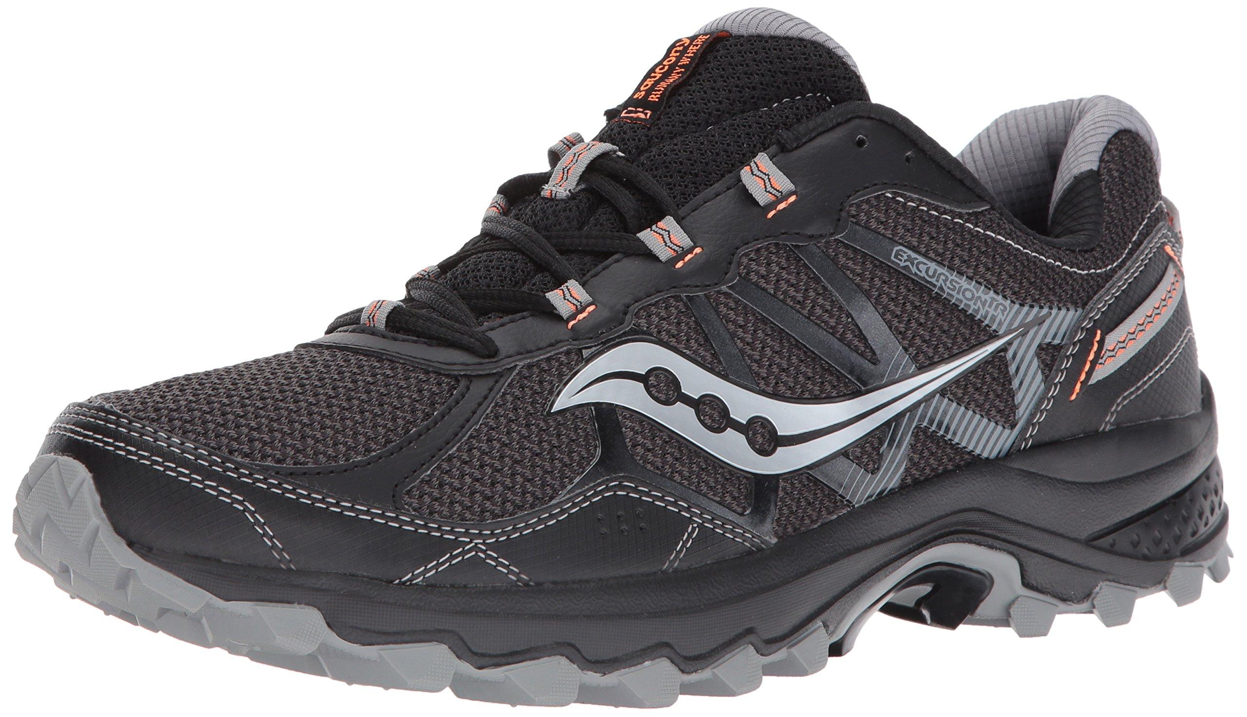 Saucony Men's Excursion TR11 Running Shoe, Black Orange, 7 Medium US