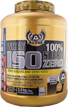 PROTEINA WHEY ISO | ARES - 2,3 kg - ZERO CARBS AND ZERO FATS (Chocolate)