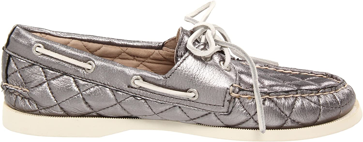 Amazon.com | Sperry Top-Sider Women's A/O Quilted Lace-Up Boat Shoe, Pewter  Quilt Metallic, 7.5 M US | Loafers & Slip-Ons