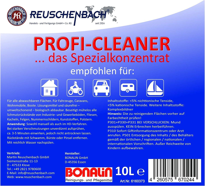 Reuschenbach Profi Cleaner Allzweckreiniger Für Auto Caravan Boot 10 L Kanister Drogerie Körperpflege