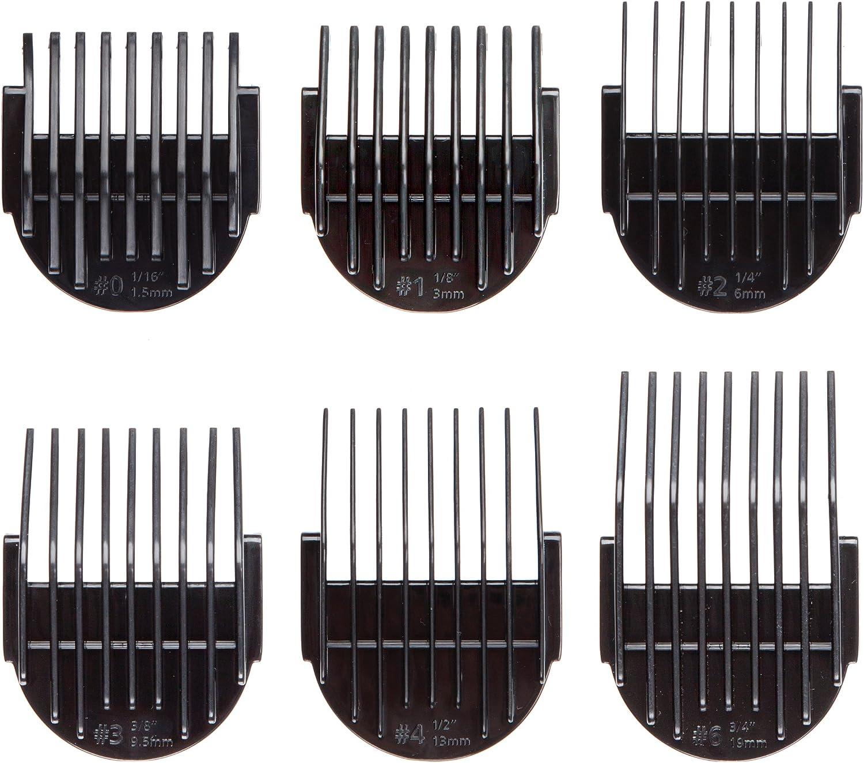 Oster C200 - Lote de peines guía de repuesto para cortapelos C200 iónico, 6 unidades