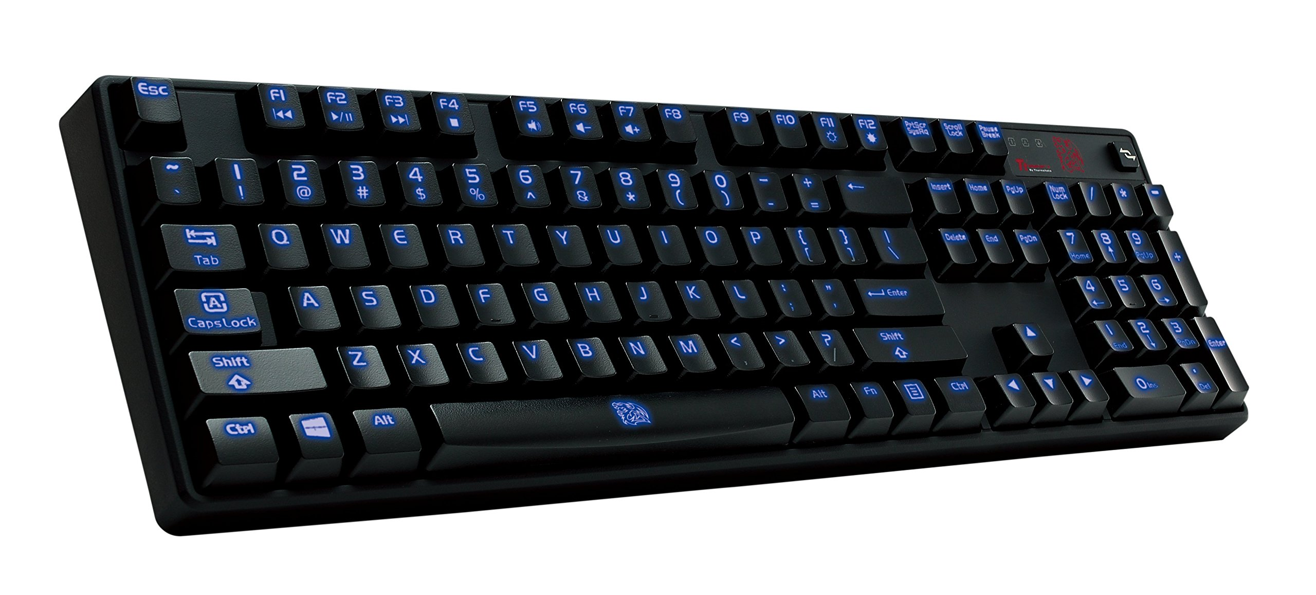 Thermaltake Tt e SPORTS Poseidon Z Blue Switches with 4-Level Brightness Blue LED Mechanical Gaming Keyboard KB-PIZ-KLBLUS-01 by Tt eSPORTS