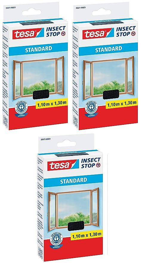 tesa Insect Stop Standard Fliegengitter f/ür Fenster 2, 110 cm x 130 cm