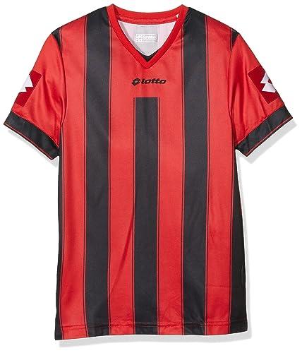 Lotto Vertigo Evo Jr - Camiseta para niño, color rojo/negro, talla XXS
