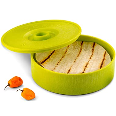 KooK Tortilla Warmer, 8 inch, Holds up to 12 Tortillas … (Green)