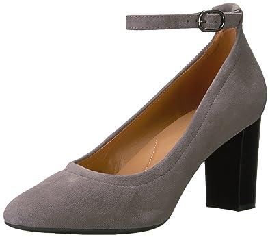 CLARKS Women's Chryssa Jana Dress Pump,Grey Suede,5 ...