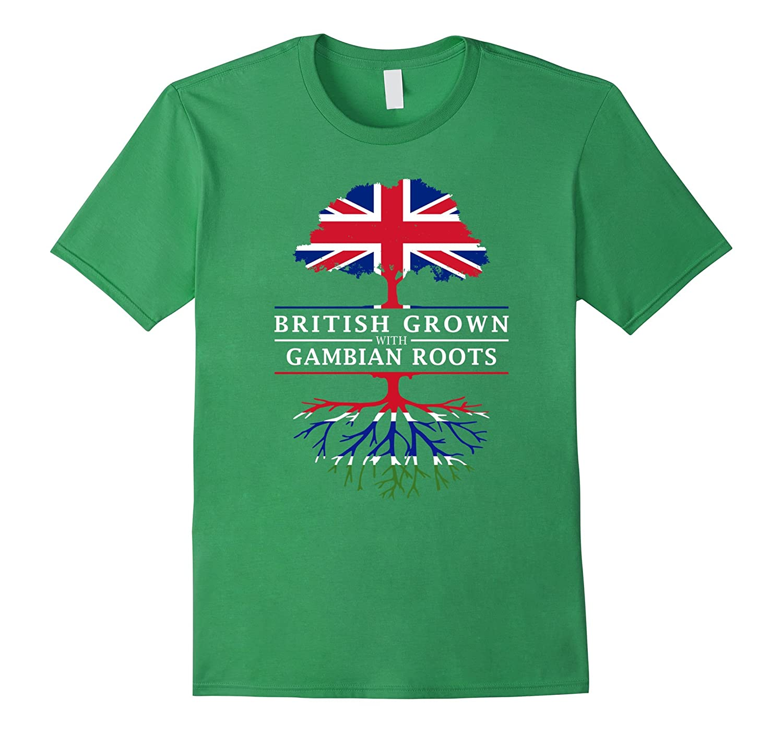British Grown with Gambian Roots T-Shirt - Gambia Shirt-CD