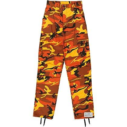Army Universe Orange Camouflage Poly Cotton Cargo BDU Pants Camo Military  Fatigues Pin (Medium Regular ... 03841f20438