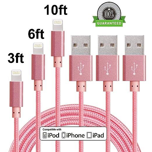 23 opinioni per Cavo Lightning su USB 3packs per iPhone 7s 7 Plus 6s 6 Plus 5s 5c 5, iPad Pro,