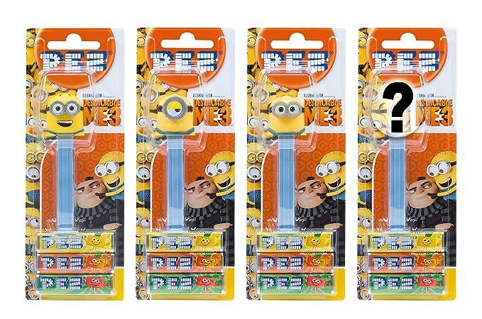 PEZ set de dispensadores Minions edición de verano (4 dispensadores con 3 recargas de caramelos