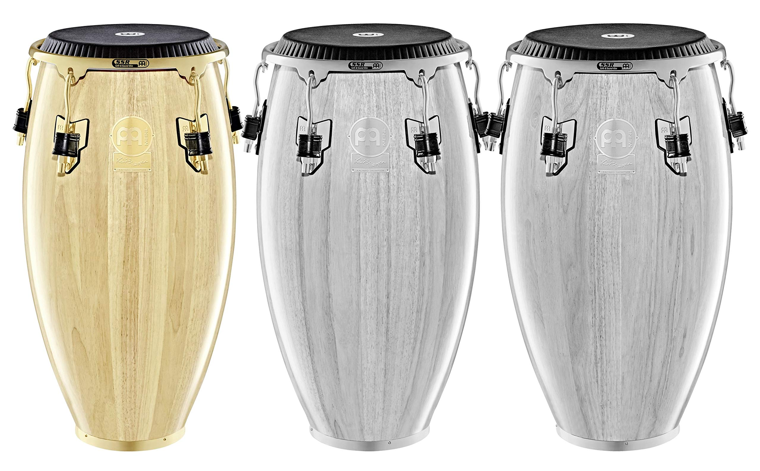 Meinl Percussion Conga with Hardwood Shell, Artist Series Kachiro Thompson-NOT MADE IN CHINA-Natural Finish, 11'' REMO Black Fiberskyn Head, 2-YEAR WARRANTY (WKTR11NT) by Meinl Percussion