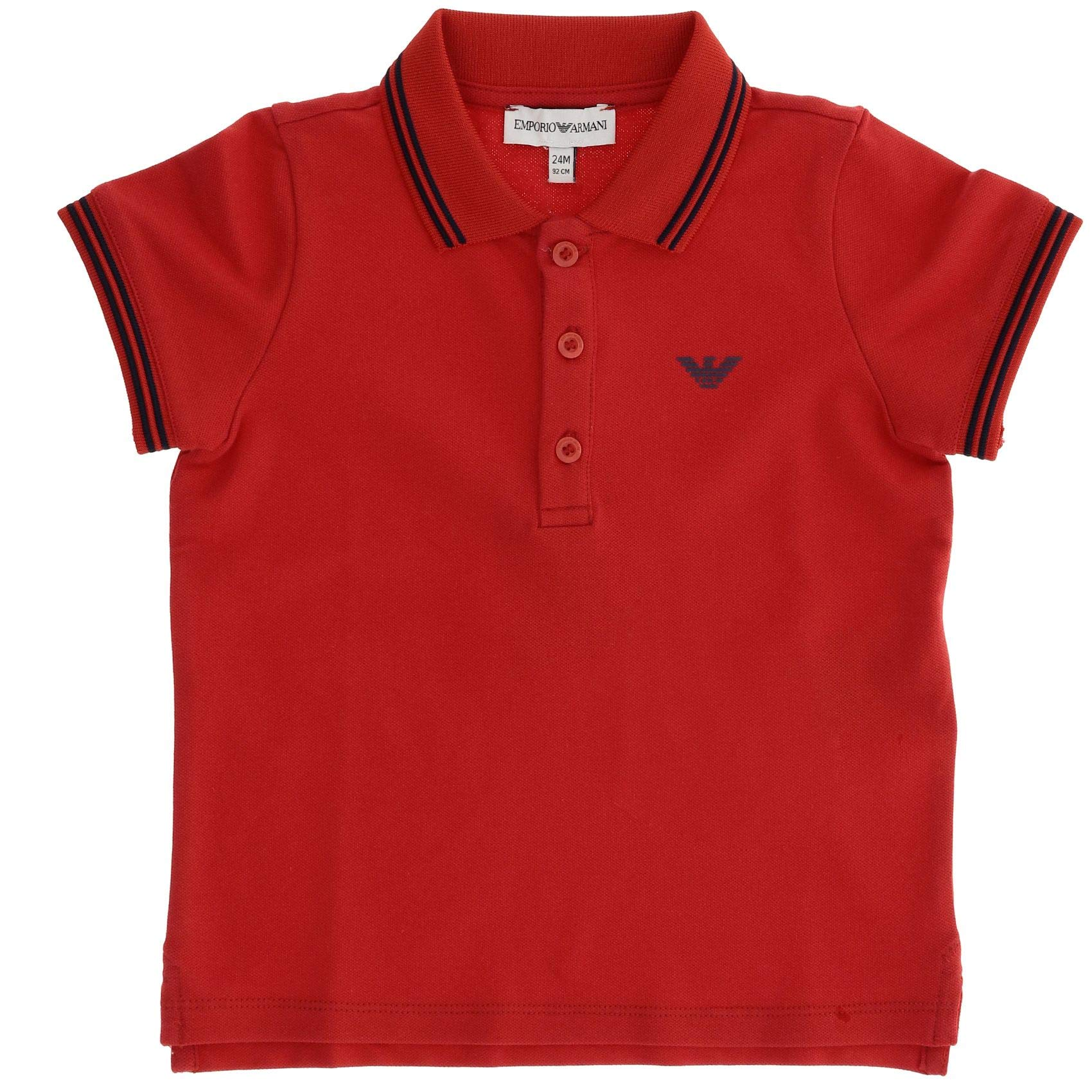Emporio Armani Luxury Fashion Baby-Boys Polo Shirt Summer Red by Emporio Armani