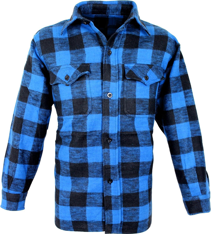 Outdoor Camisa De Leñador Woodcutter azul y negro M: Amazon.es: Ropa y accesorios