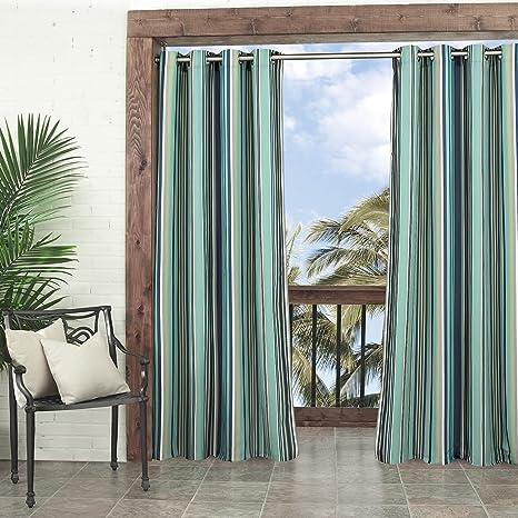 1 pieza cortina de Blue carpa de 95 cm, patrón de rayas Rugby ...