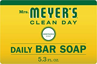 product image for Mrs. Meyer's Clean Day Bar Soap, Use as Body Wash or Hand Soap, Cruelty Free Formula, Honeysuckle Scent, 5.3 oz