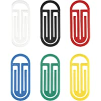 Laurel King Klips Pack of Curved Paper Clips 50/62 mm Polystyrene Plastic Assorted Primary Colours