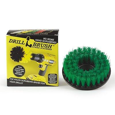 Drillbrush Construction Tools - Medium Scrub Brush - Threaded - 5/16 x 24 - fits Electric - Cordless - Air Pneumatic - Variable Speed - Dual Action - Orbital - Rotary - Buffer - Polisher – Machine: Automotive