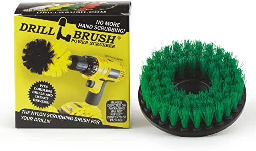 Construction Tools - Medium Scrub Brush - Threaded - 5/16 x 24 - fits Electric - Cordless - Air Pneumatic - Variable Speed - Dual Action - Orbital - Rotary - Buffer - Polisher – Machine