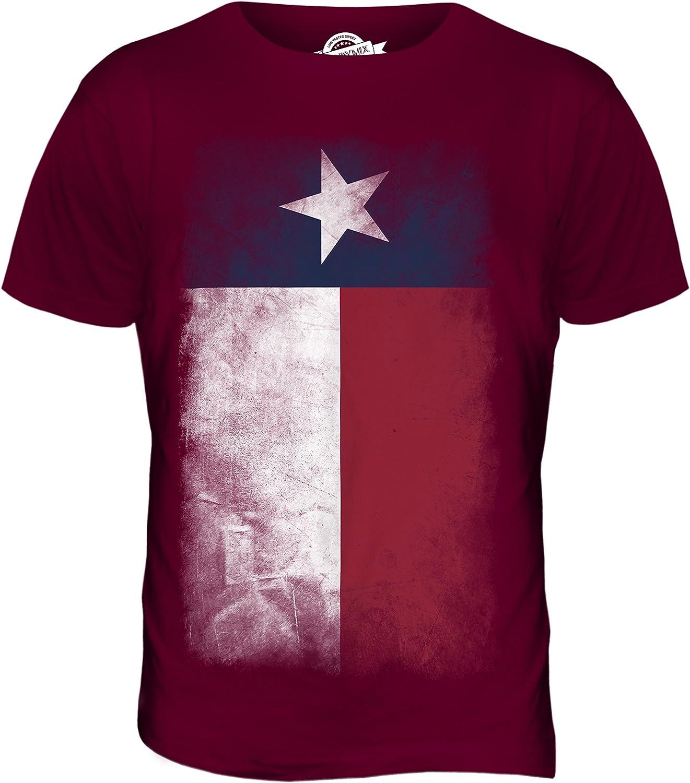 Texas Bandera Difuminada - Camiseta Hombre Camiseta Top - algodón, Anís Pip, 100% Ringspun 100% Machine 100% algodón, Hombre, Small: Amazon.es: Ropa y accesorios
