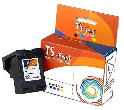TS-Print 300XL 300 XL HP Remanufacturado Cartucho de Tinta Negro DeskJet D1660 D2560 D2660 D5560 F2420 F2480 F2492 F4210 F4230 F4250 F4280 F4580 F5560 ...