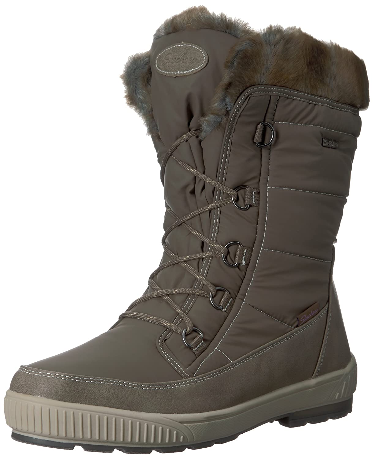 Skechers Women's Woodland-Mid Lace Snow Boot B06XL145GV 8 B(M) US|Dark Taupe