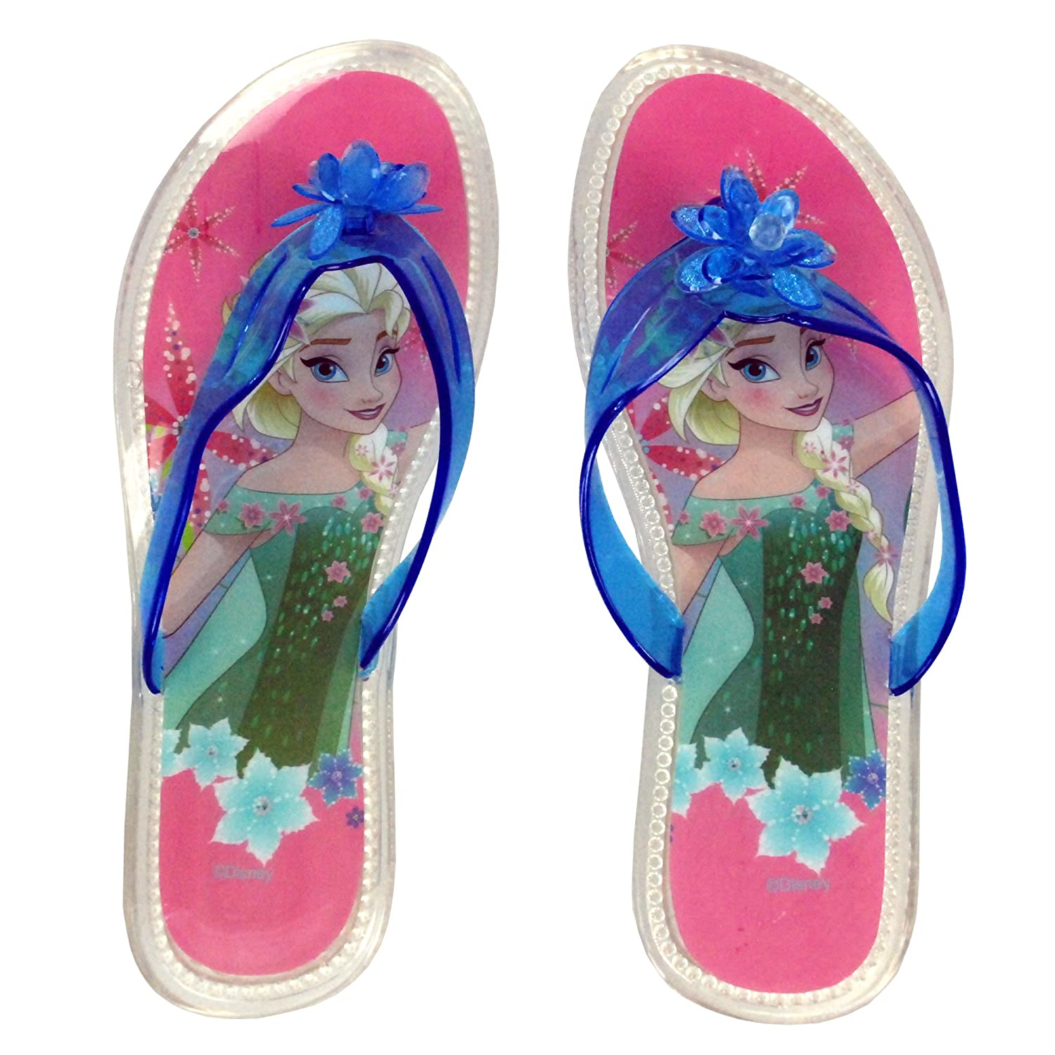 f0e9522a9f80 Disney Frozen Elsa Official Children Girls Flip Flops PVC Sandals Swimming  Pool Beach Slippers Shoes UK Sizes (5years to 9years)  Amazon.co.uk  Shoes    Bags