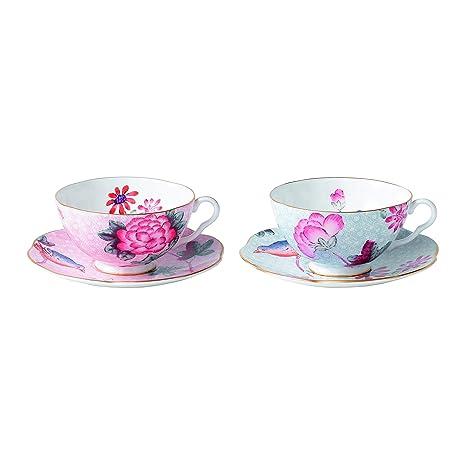 Amazon.com: Wedgwood Cuco té Story – Taza y platillo, rosa ...